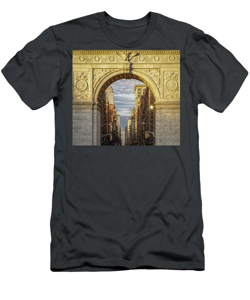 Washington Square Golden Arch Men's T-Shirt (Slim Fit) by Jeffrey Friedkin