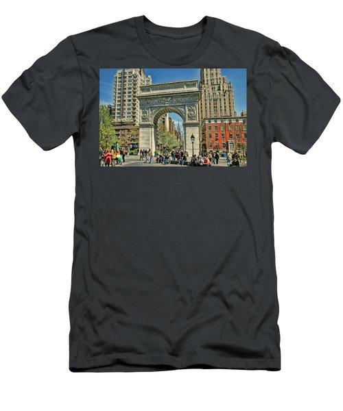 Washington Square Park - N Y C Men's T-Shirt (Athletic Fit)