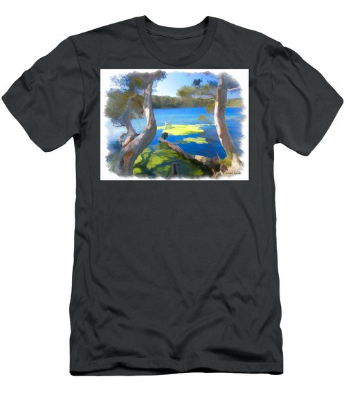Men's T-Shirt (Slim Fit) featuring the photograph Wat-0002 Avoca Estuary by Digital Oil