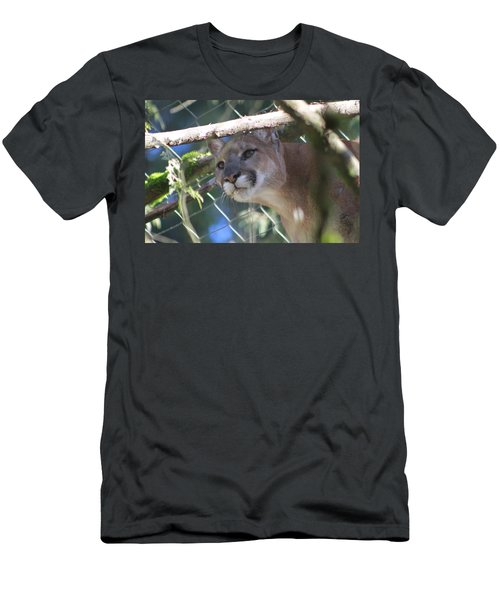 Men's T-Shirt (Slim Fit) featuring the photograph Watchful Eyes by Laddie Halupa