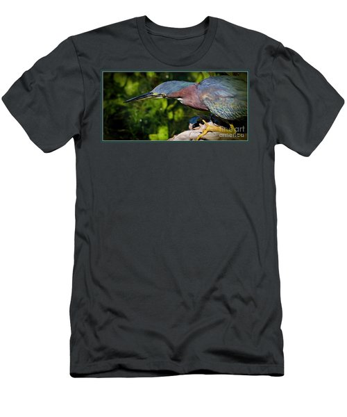 Watching Men's T-Shirt (Slim Fit) by Pamela Blizzard