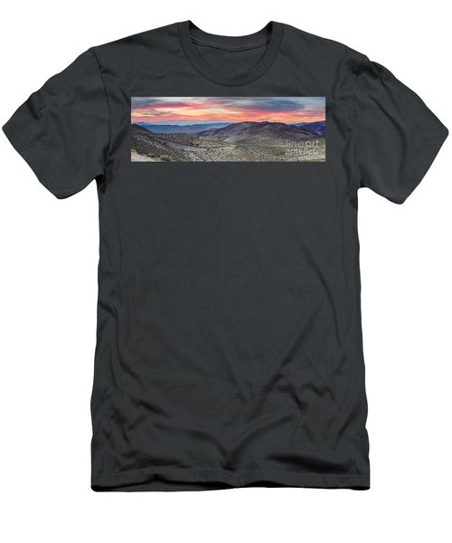 Watching The Sunrise From Dante's View - Black Mountains Death Valley National Park California Men's T-Shirt (Athletic Fit)