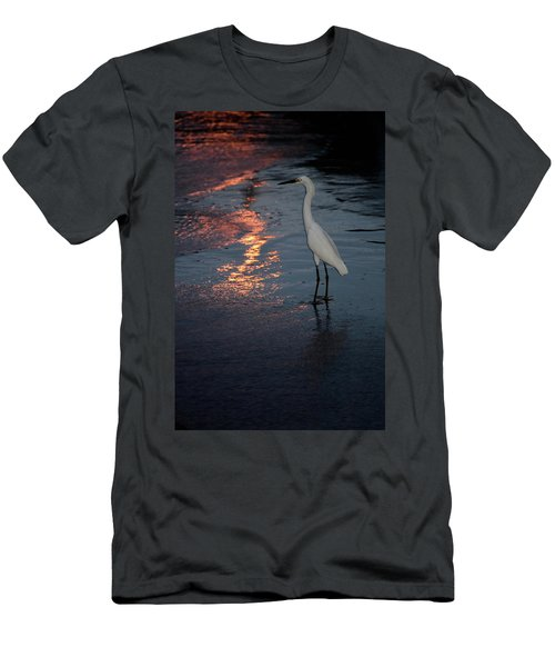 Men's T-Shirt (Athletic Fit) featuring the photograph Watching The Sunset by Melissa Lane