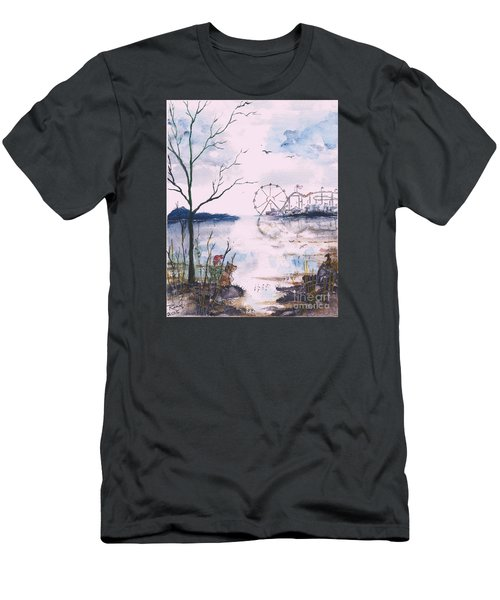 Watching The World Go Round Men's T-Shirt (Athletic Fit)