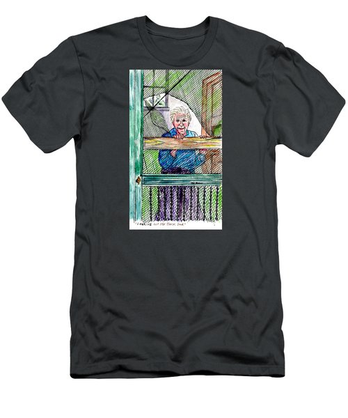 Watching To See If The Kids Are Coming Men's T-Shirt (Slim Fit) by Philip Bracco