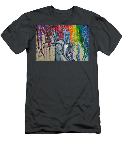 Water And Colors Men's T-Shirt (Slim Fit) by Raymond Perez