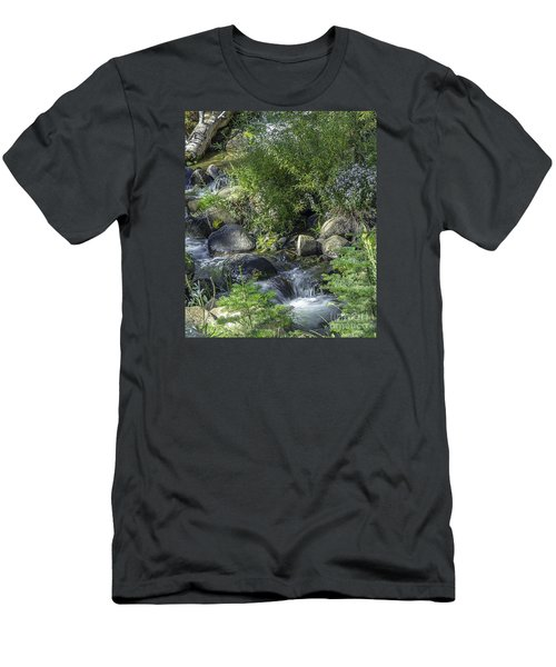 Water And Wildflowers Men's T-Shirt (Slim Fit) by Nancy Marie Ricketts