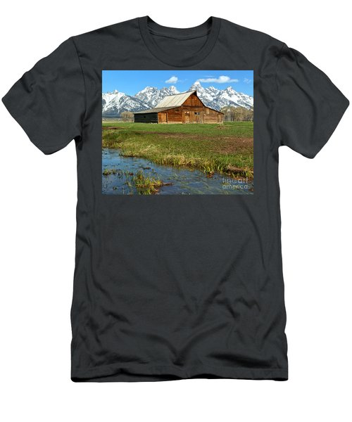 Water By The Barn Men's T-Shirt (Slim Fit) by Adam Jewell