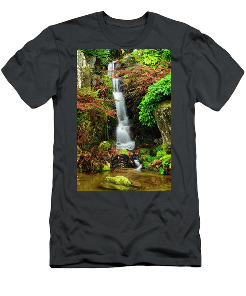 Waterfall At Kubota Garden Men's T-Shirt (Athletic Fit)