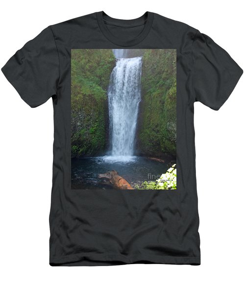 Water Fall Men's T-Shirt (Athletic Fit)