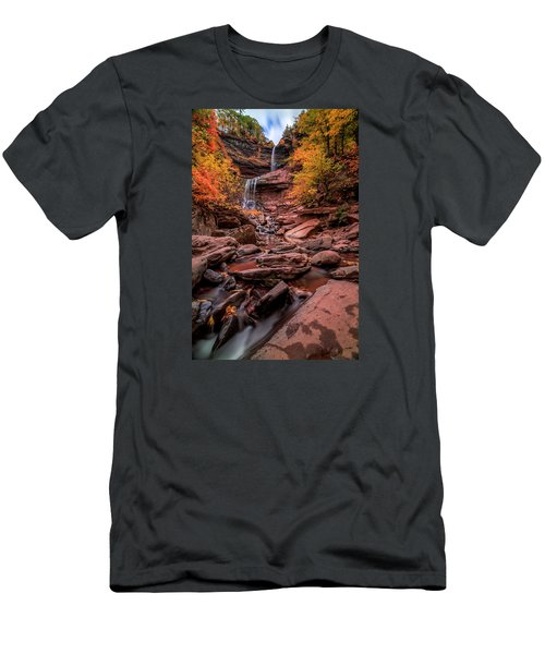 Men's T-Shirt (Slim Fit) featuring the photograph Water Falls  by Anthony Fields