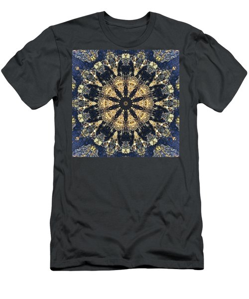 Men's T-Shirt (Athletic Fit) featuring the mixed media Water Glimmer 4 by Derek Gedney