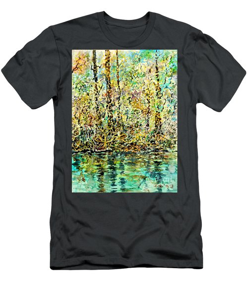 Water Kissing Land Men's T-Shirt (Slim Fit)