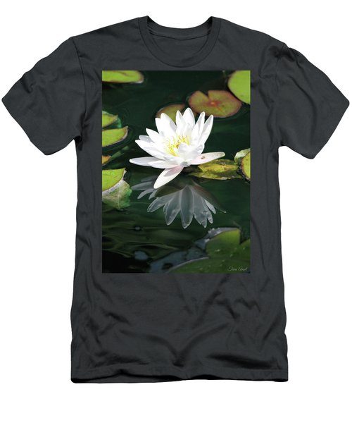 Men's T-Shirt (Athletic Fit) featuring the photograph Water Lily And Reflection by Trina Ansel