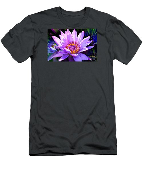 Water Lily In Purple Men's T-Shirt (Slim Fit) by Jeannie Rhode