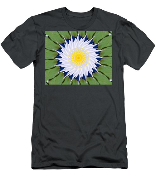 Water Lily Kaleidoscope Men's T-Shirt (Athletic Fit)