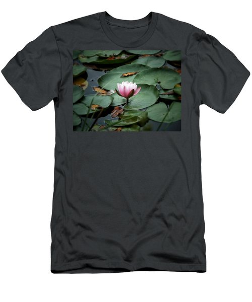 Water Lily Men's T-Shirt (Slim Fit) by Karen Stahlros