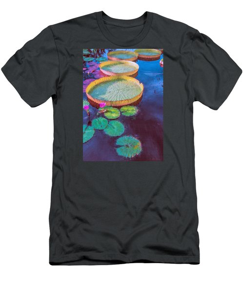 Water Lily Pattern Men's T-Shirt (Athletic Fit)