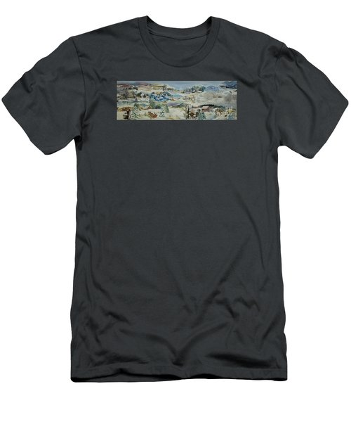 Water Pump In Winter - Sold Men's T-Shirt (Slim Fit) by Judith Espinoza