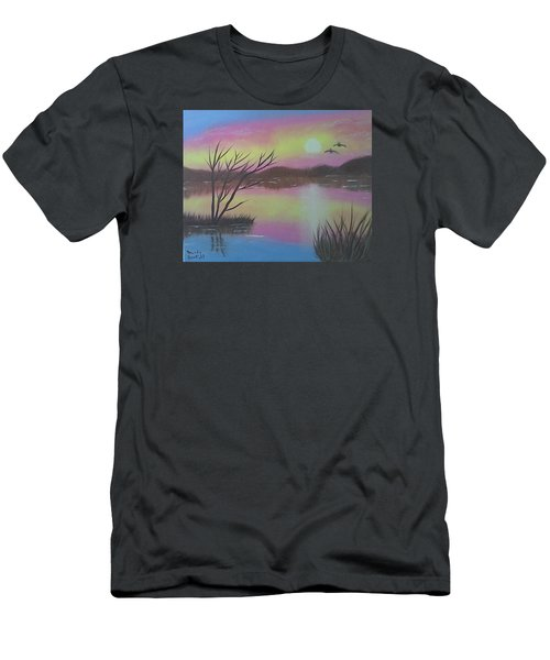 Water Reflections Men's T-Shirt (Slim Fit) by Brenda Bonfield