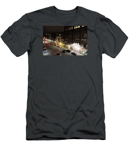 Men's T-Shirt (Slim Fit) featuring the digital art Water Street Looking South From The Marshall Building by David Blank