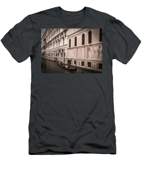 Water Taxi In Venice Men's T-Shirt (Slim Fit) by Kathleen Scanlan