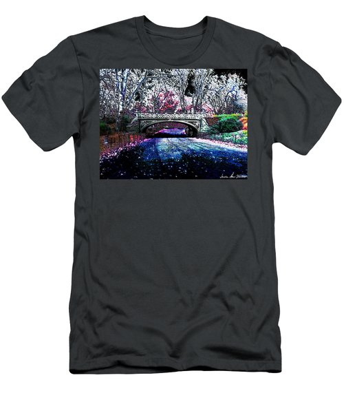 Men's T-Shirt (Slim Fit) featuring the photograph Water Under The Bridge by Iowan Stone-Flowers
