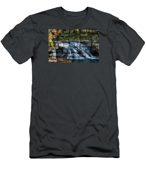 Water Wall Men's T-Shirt (Athletic Fit)