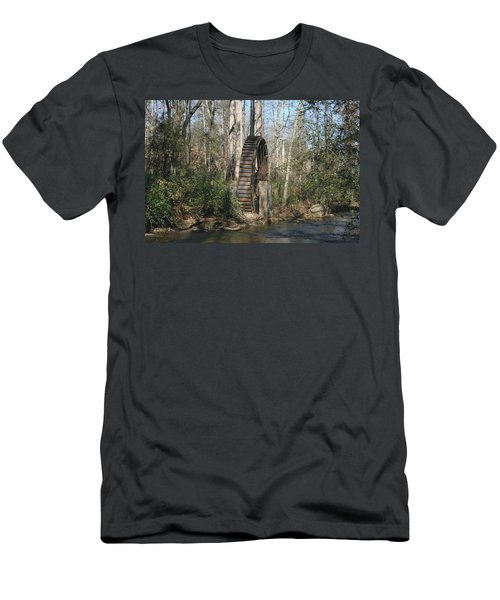 Water Wheel Men's T-Shirt (Slim Fit) by Cathy Harper