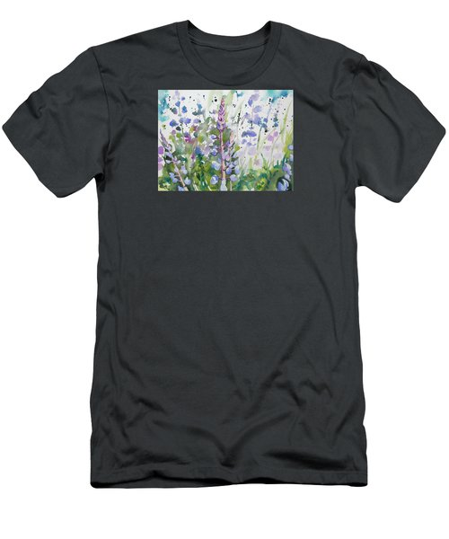 Watercolor - Lupine Wildflowers Men's T-Shirt (Athletic Fit)