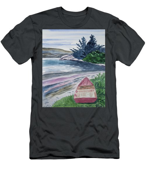 Watercolor - New Zealand Harbor Men's T-Shirt (Athletic Fit)