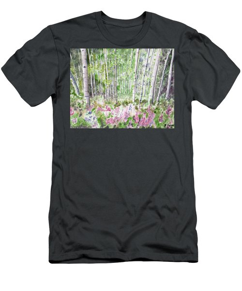 Watercolor - Summer Aspen Glade Men's T-Shirt (Athletic Fit)