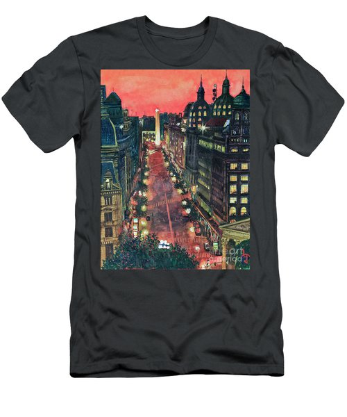 Watercolors-01 Men's T-Shirt (Slim Fit) by Bernardo Galmarini