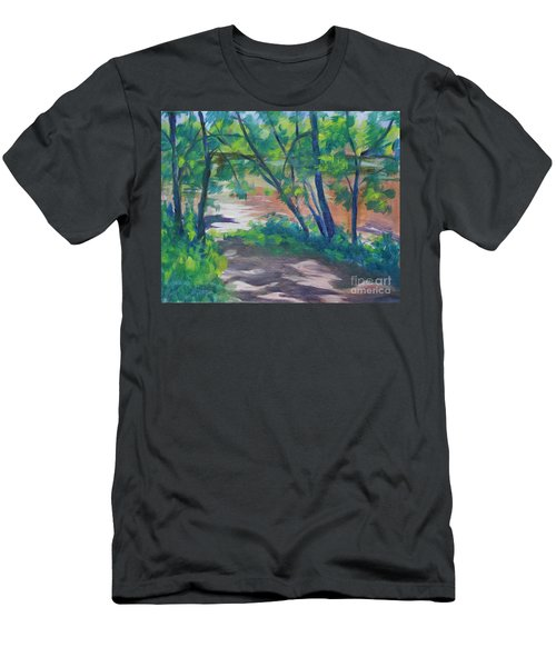 Watercress Beach On The Current River   Men's T-Shirt (Athletic Fit)