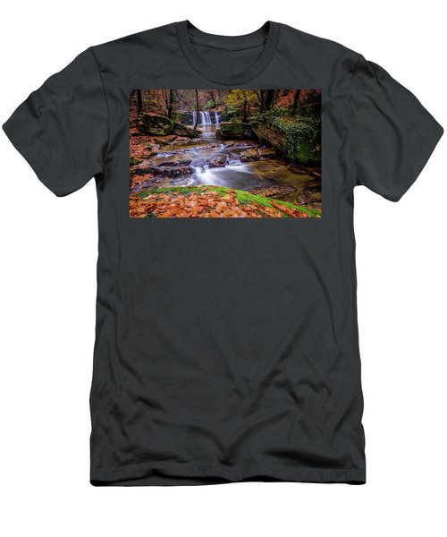 Waterfall-2 Men's T-Shirt (Athletic Fit)
