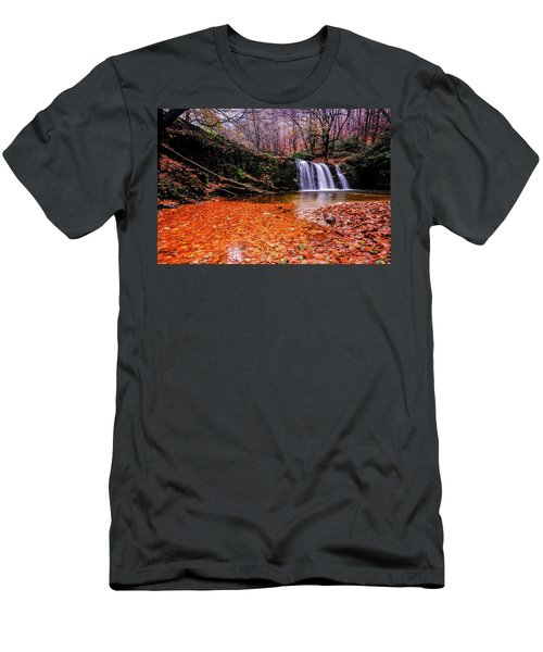 Waterfall-7 Men's T-Shirt (Athletic Fit)