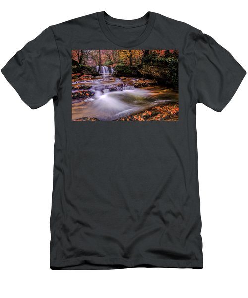 Waterfall-9 Men's T-Shirt (Athletic Fit)