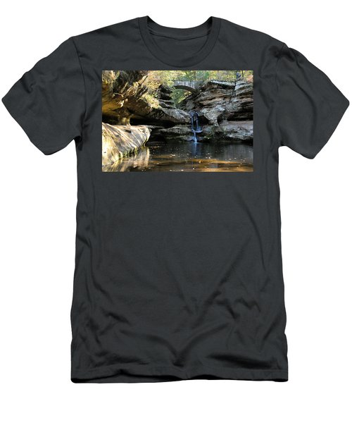 Waterfall At Old Man Cave Men's T-Shirt (Athletic Fit)