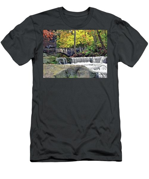 Waterfall At Olmsted Falls - 1 Men's T-Shirt (Athletic Fit)