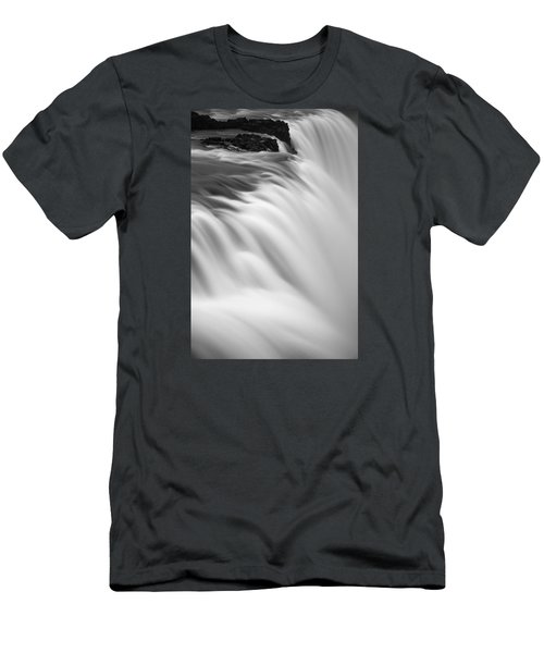 Men's T-Shirt (Slim Fit) featuring the photograph Waterfall by Chris McKenna
