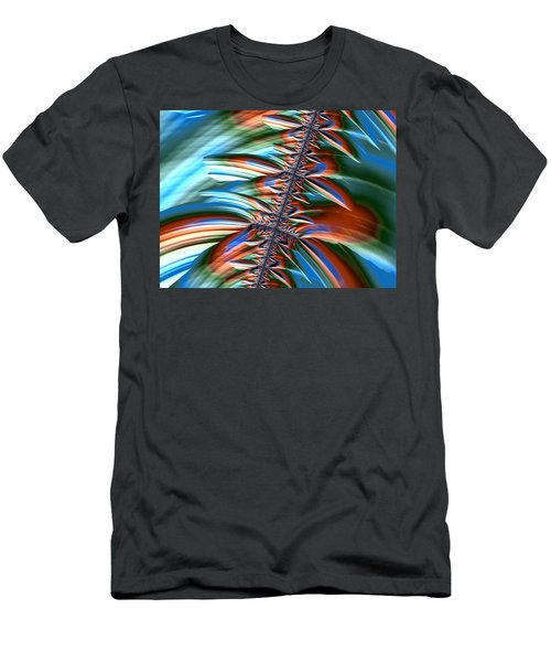 Men's T-Shirt (Slim Fit) featuring the digital art Waterfall Fractal 2 by Bonnie Bruno
