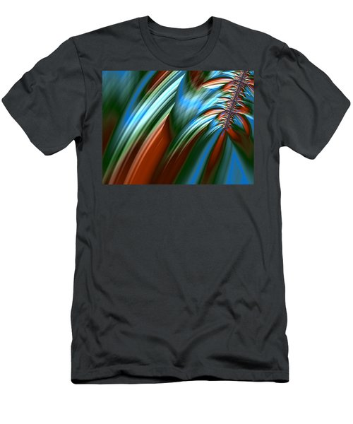 Men's T-Shirt (Slim Fit) featuring the digital art Waterfall Fractal by Bonnie Bruno