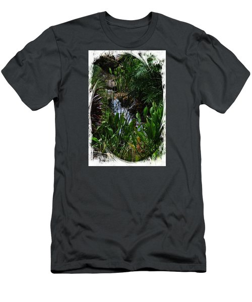 Waterfall Garden Swirl 2 Men's T-Shirt (Athletic Fit)