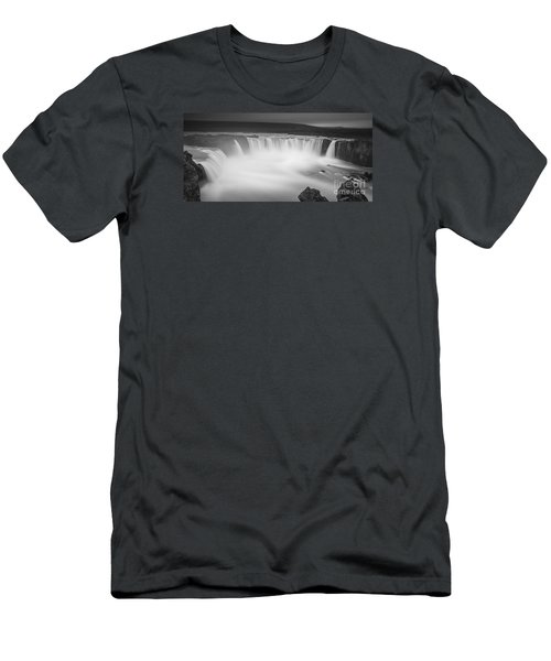 Waterfall Of The Gods Iceland Men's T-Shirt (Slim Fit) by Gunnar Orn Arnason