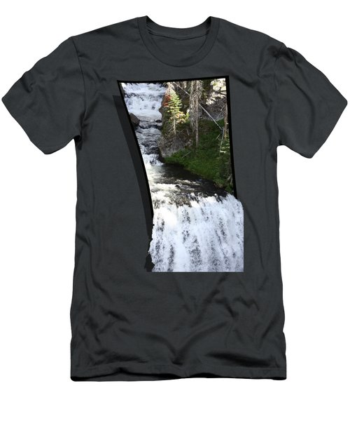 Waterfall Men's T-Shirt (Slim Fit) by Shane Bechler