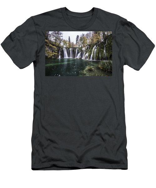 Waterfalls In Croatia Men's T-Shirt (Athletic Fit)
