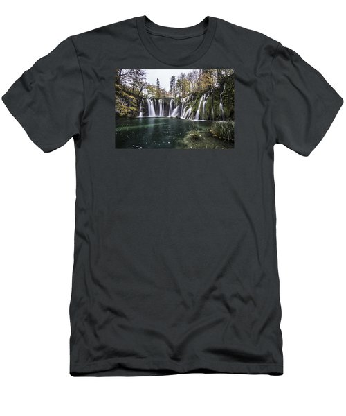 Waterfalls In Croatia Men's T-Shirt (Athletic Fit)