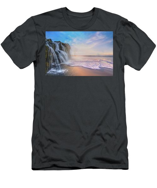 Waterfalls Into The Ocean Men's T-Shirt (Athletic Fit)