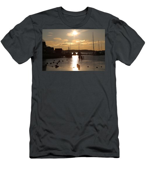 Waterfront, Oslo Fjords, Norway.  Men's T-Shirt (Athletic Fit)