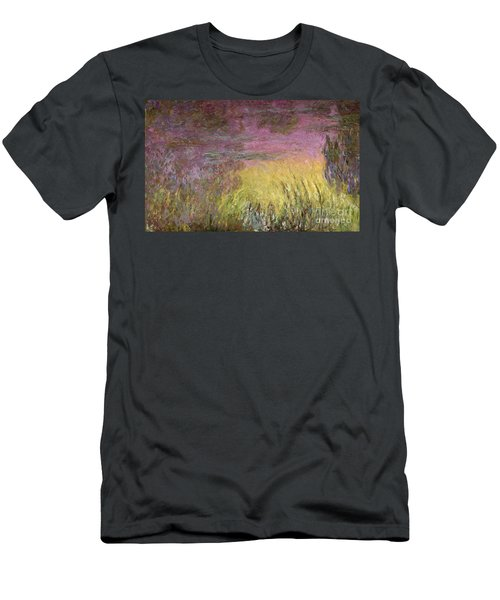 Waterlilies At Sunset Men's T-Shirt (Athletic Fit)